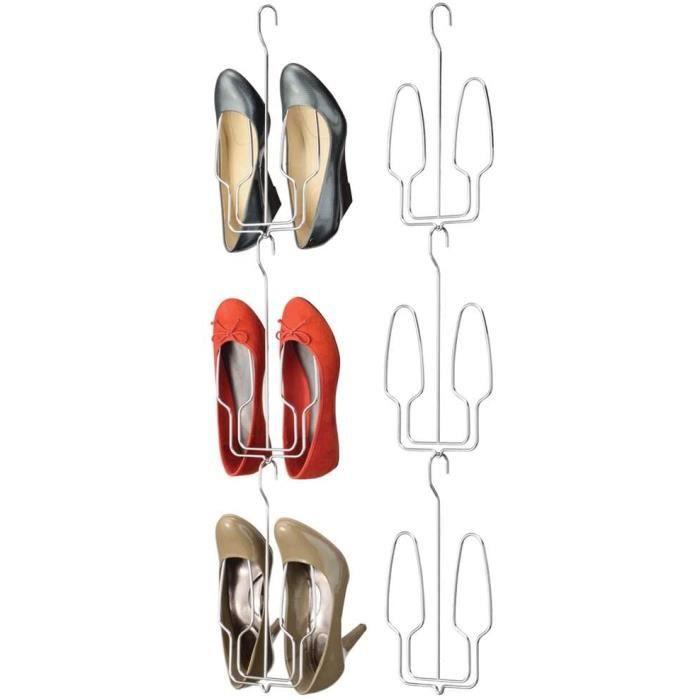 CHAUSSURES POUR DRESSING gn range chaussures mural lot de 6 ameacutenagement dressing pour une paire eacutetagegravere chaussu2