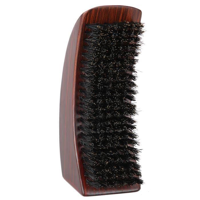 Brosse à barbe anti-frisottis huile tête poils massage du visage moustache brosse courbée pour hommes