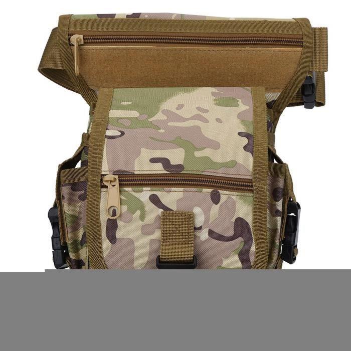 Sac de hanche, sac de jambe de taille de camouflage, poche de cuisse de sac de taille pour la randonnée de camping