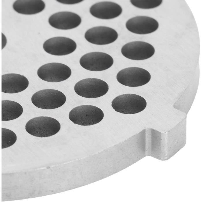 Disque de plaque de hachoir disque de plaque de hachoir à viande de broyeur de viande de hachoir de mélangeur n 8 pour [663]