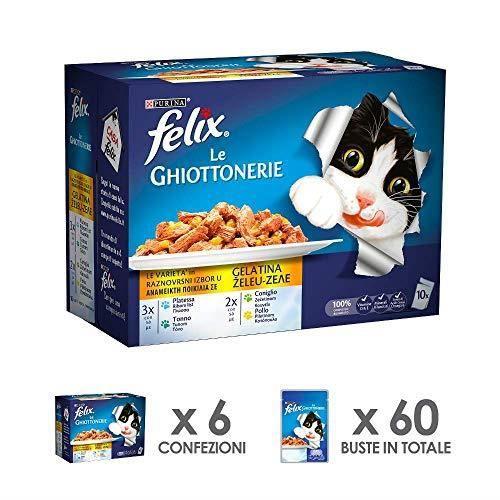 Felix purine Les gourmandises Carton pelliculé Texte Humide Chat Les variétés avec Plie, avec Thon, avec Lapin et ave 1223942