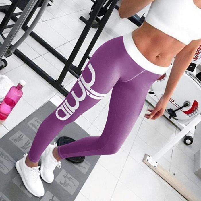 BPFY - NOUVEAUTE 2018 - Legging Sport femme - AIMIN PUSH UP - Danse-Gym Rythmique VIOLET Taille S