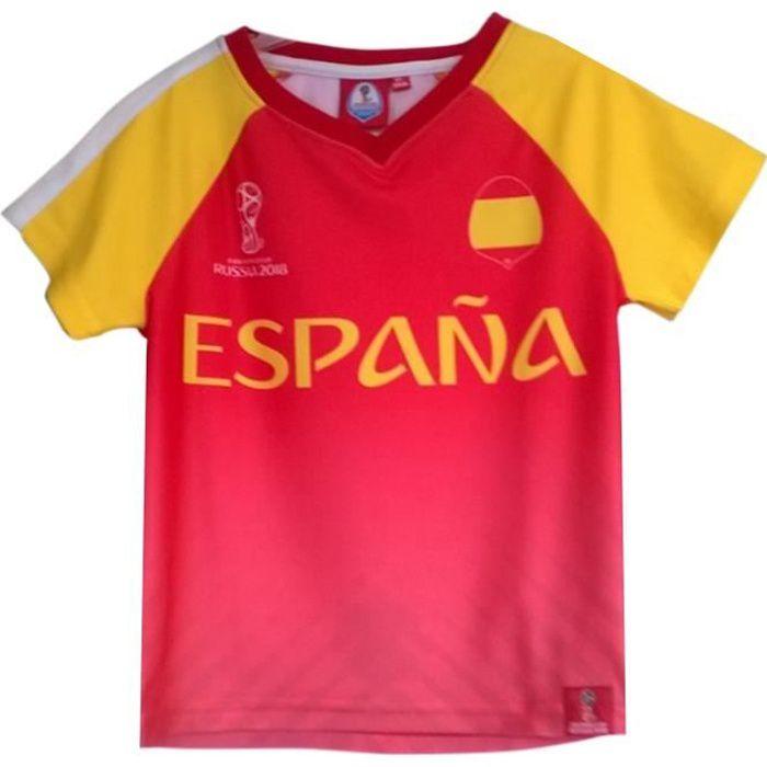 Maillot De Football - NPZ - Tee shirt équipe d'Espagne FIFA® 2018 Officiel rouge Taille de 4 à 12 ans