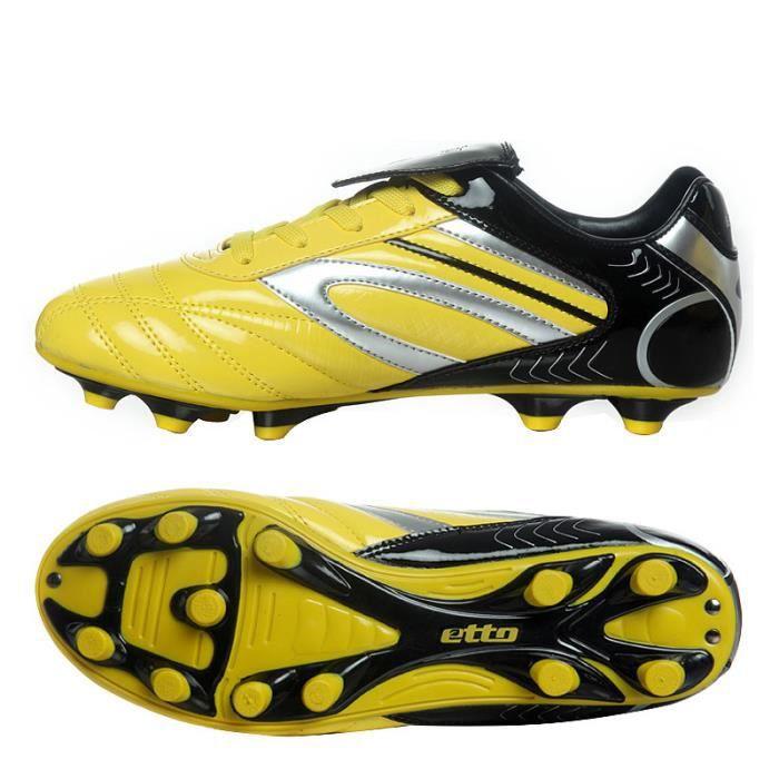 Chaussures et crampons de football adultes enfant Cuir verni Résistant à l'usure Antidérapant Chaussures Courses d'entraînement