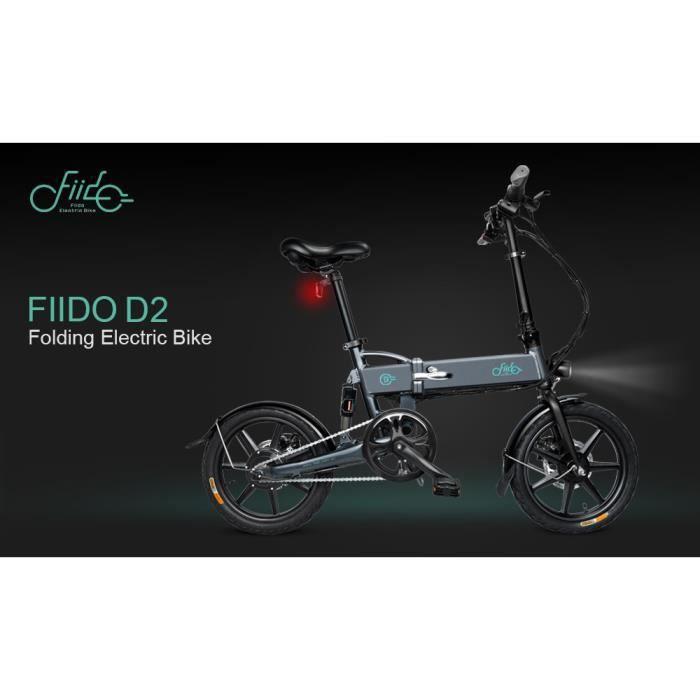 Vélo Electrique FIIDO D2 Cyclomoteur E-Scooter Vélo assistance électrique Pliable 7.8Ah 2600mAh Gris
