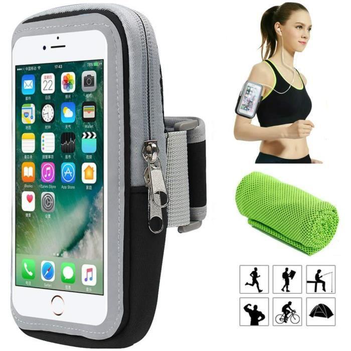 Brassard de Sport, Smartphone Bracelet Poignet pour iPhone X XS Plus 8 7 6 6s 5 5C 5S Se Samsung Galaxy S9 S8 S7 S6 A5 A3 J5 J....