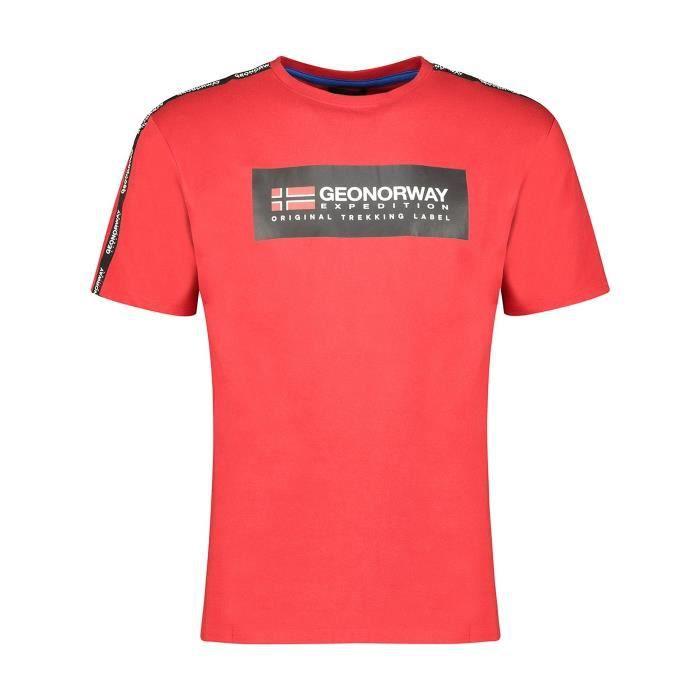 Tshirt Homme Geographical Norway Jathlete Rouge