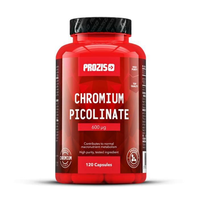 PROZIS - Picolinate de Chrome 600 mcg 120 gélules - Maintient sous contrôle le taux de sucre dans