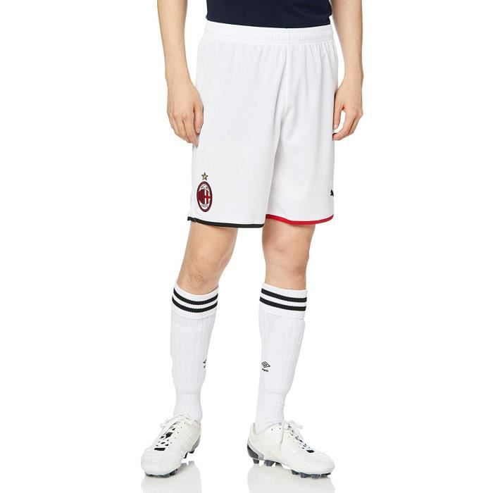 Puma ACM Shorts Replica Without Inner Slip Homme, White/Tango Red, FR : 2XL (Taille Fabricant : XXL) - 755889