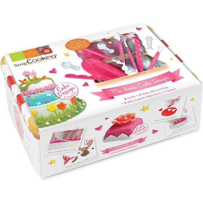 Coffret outils Cake Design - Scrapcooking