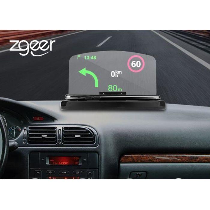 Affichage Tête Voiture GPS HUD Head Up Navigation Display Smart Support Téléphone Support Projecteur