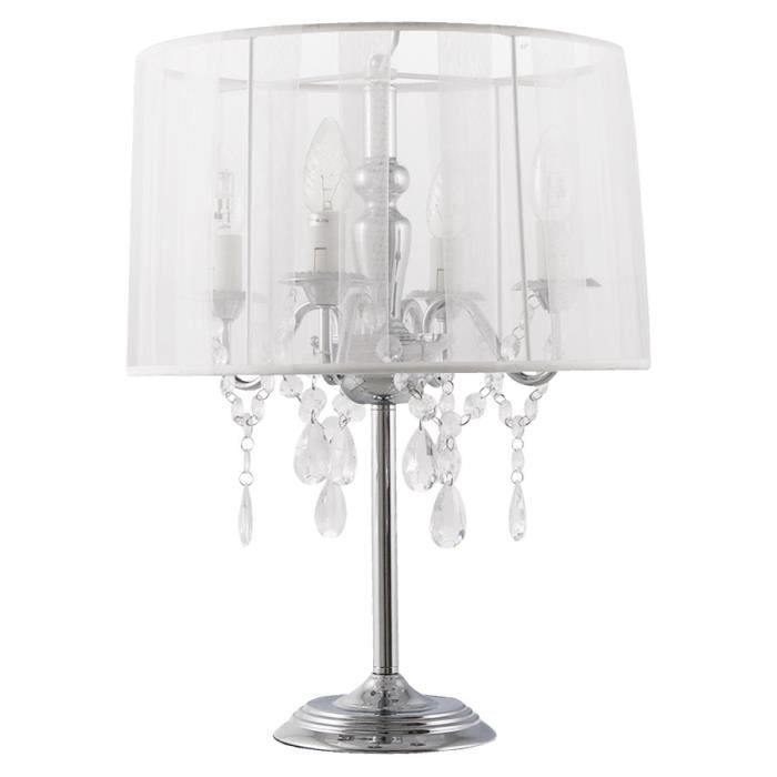 lampe de chevet 39 klassik 39 blanche chandelier ba achat. Black Bedroom Furniture Sets. Home Design Ideas