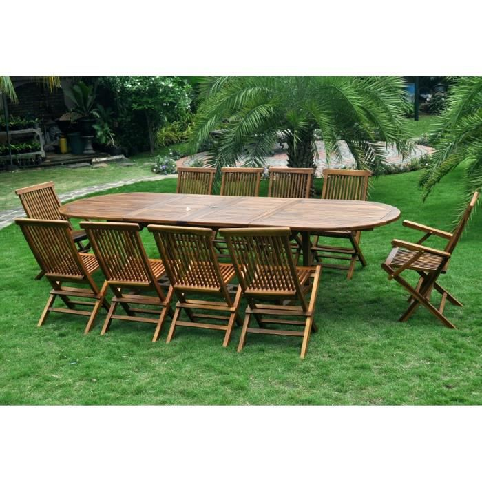 Beautiful Table Jardin En Teck Grande Taille Pictures ...
