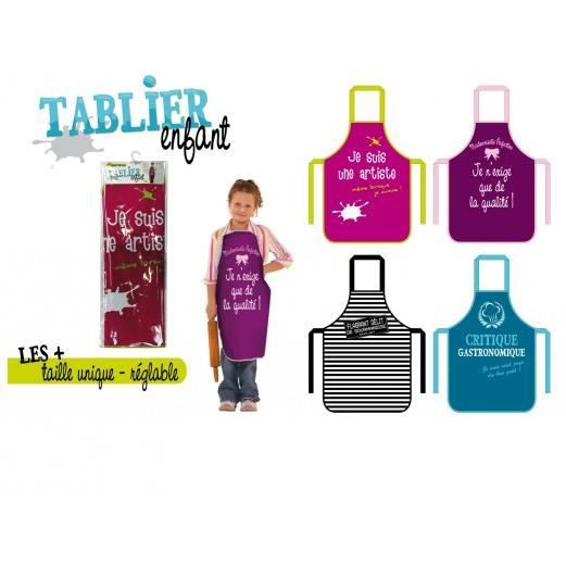 tablier enfant plastique humour noir achat vente tablier de cuisine cdiscount. Black Bedroom Furniture Sets. Home Design Ideas
