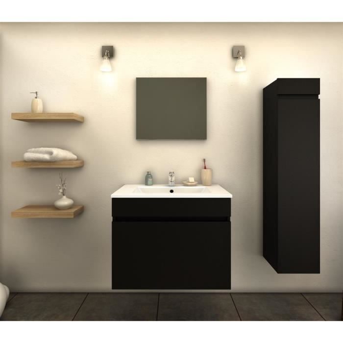 meuble de salle de bains 60 cm tina noir mat achat. Black Bedroom Furniture Sets. Home Design Ideas