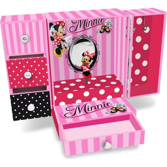 grande boite bijoux musical minnie mouse disney achat vente boite a bijoux grande boite. Black Bedroom Furniture Sets. Home Design Ideas