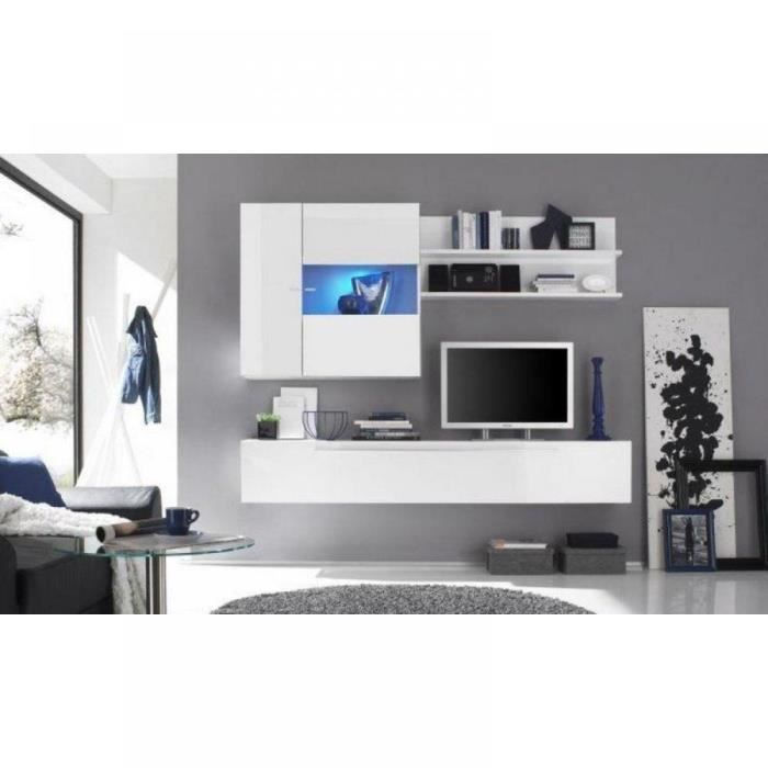 Composition murale tv design table de lit - Composition murale ikea ...