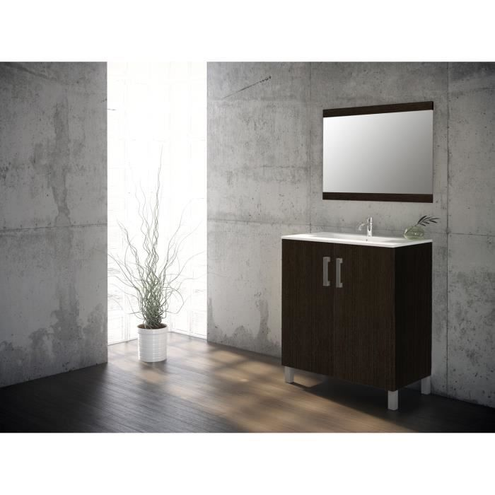 eco ensemble meuble de salle de bain weng 80 cm achat. Black Bedroom Furniture Sets. Home Design Ideas