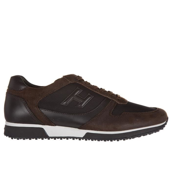 Chaussures baskets sneakers homme en cuir h198 slash h 3d Hogan