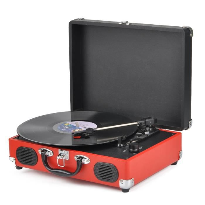 platine vinyle usb portable 2 vitesses sortie jack rca adaptateur 45t platine vinyle avis et. Black Bedroom Furniture Sets. Home Design Ideas