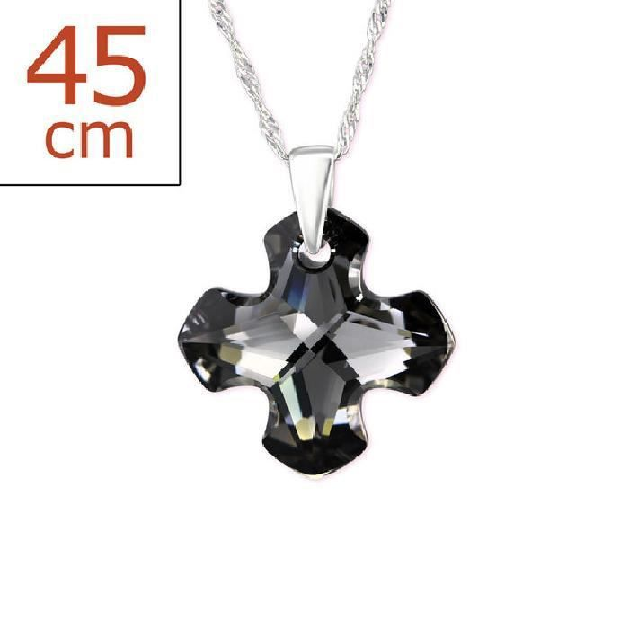 Colliers Greek Croix Collier from SWAROVSKI® CRYSTALS Argent 925