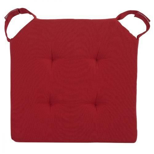 galette de chaise avec velcro 40 x 40 cm rouge achat vente coussin de chaise cdiscount. Black Bedroom Furniture Sets. Home Design Ideas