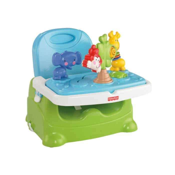 Fisher price si ge r hausseur d couvertes bleu et vert achat vente chaise haute for Chaise 4 en 1 fisher price