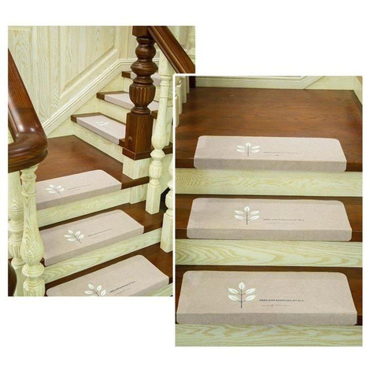 Antidérapant Pour Escalier En Bois lot de 5 tapis d'escalier marches,auto-adhésif lumineux