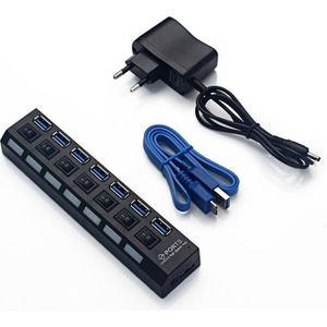 HUB USB3.0 HUB 7 ports USB v3.0 + 5V/2A Power