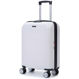 VALISE - BAGAGE LYS - Valise Cabine rigide blanc 55cm ultra légère