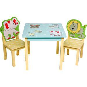 TABLE ET CHAISE ib style® SAFARI Ensemble table et chaise enfant