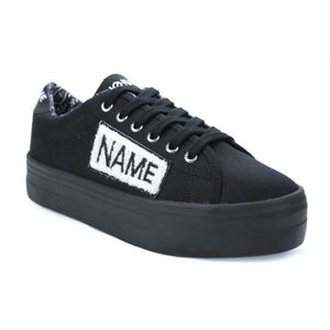 BASKET No Name Plato Sneaker Twill Patch Basket Compensée