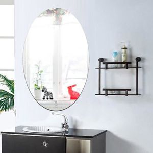 miroir ovale achat vente miroir ovale pas cher cdiscount. Black Bedroom Furniture Sets. Home Design Ideas