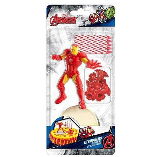 Kit De Decoration Avengers Marvel Iron Man Avec 10 Bougie Gateau Anniversaire Patisserie 265 Achat Vente Figurine Decor Gateau Cdiscount