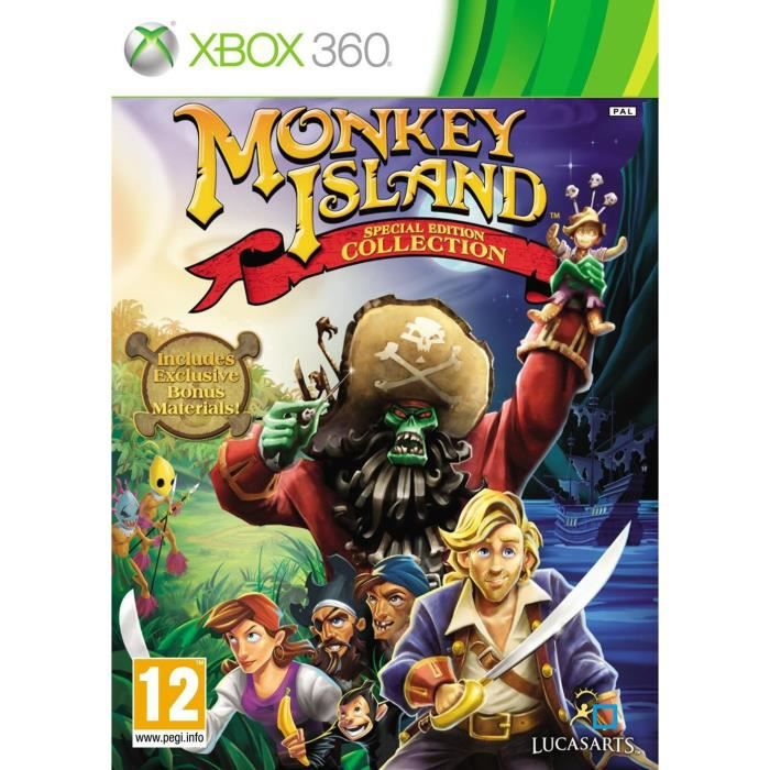 JEUX XBOX 360 THE ADVENTURES OF MONKEY ISLAND ED SPEC / Jeu X360