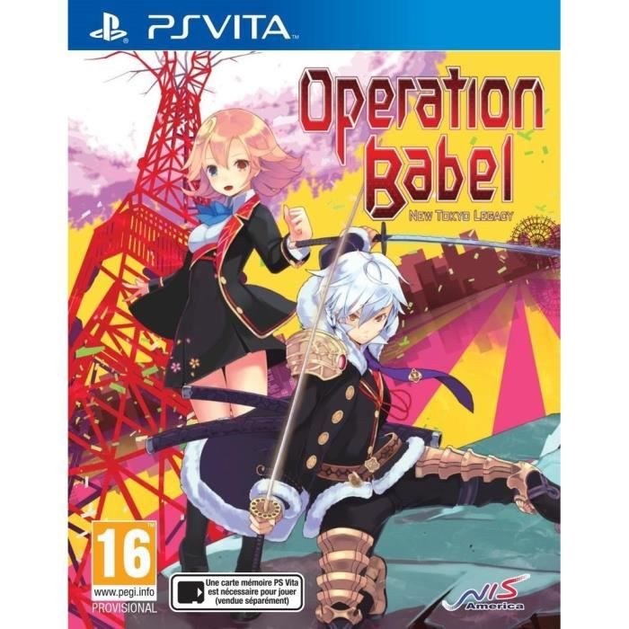 Operation Babel : New Tokyo Legacy Jeu PS Vita