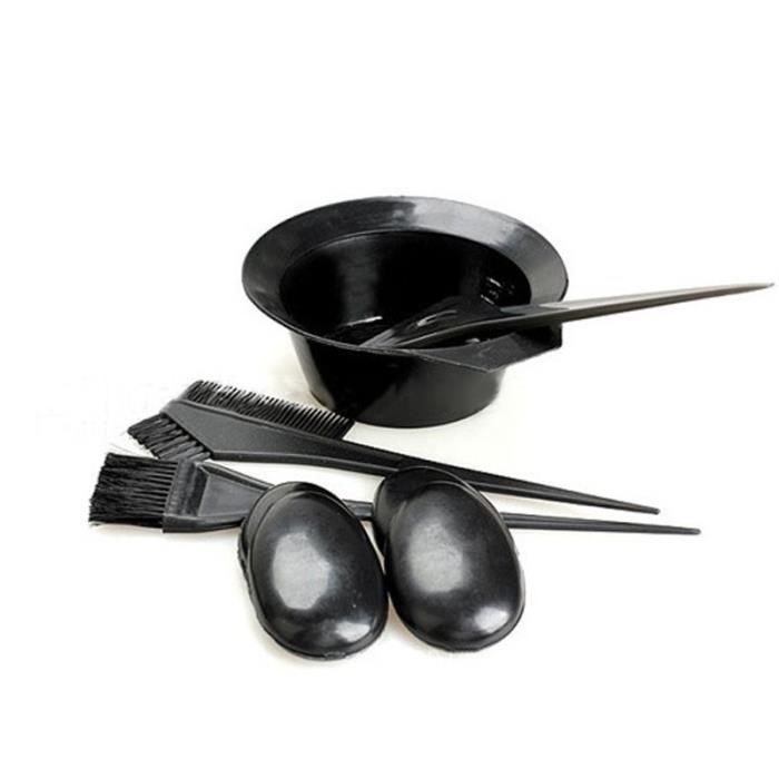 Couleur des cheveux Dye Bowl peigne Brosses Brosse Kit Set Outils Salon Coloration cheveux Tint