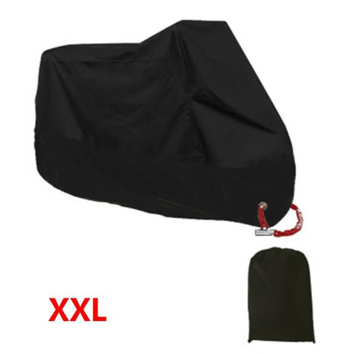 Housse de moto bâche de protection étanche protection UV étanche à la poussière Noir