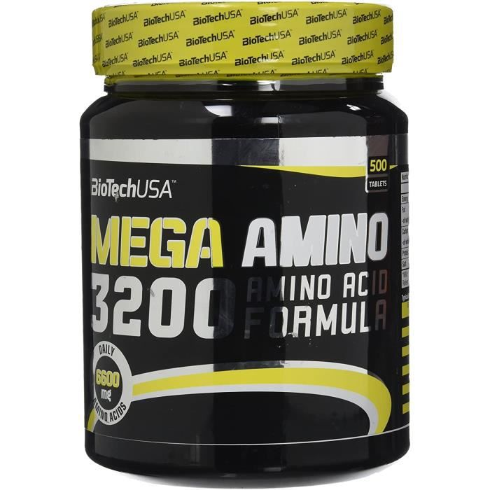 Multi-vitamines et minéraux Biotech USA 12014010000 Méga Amino 3200 Acide Aminé, 925g 508806