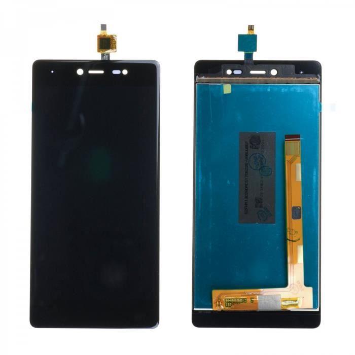 Ecran Complet LCD + Tactile pour WIKO FEVER 4G Noir.