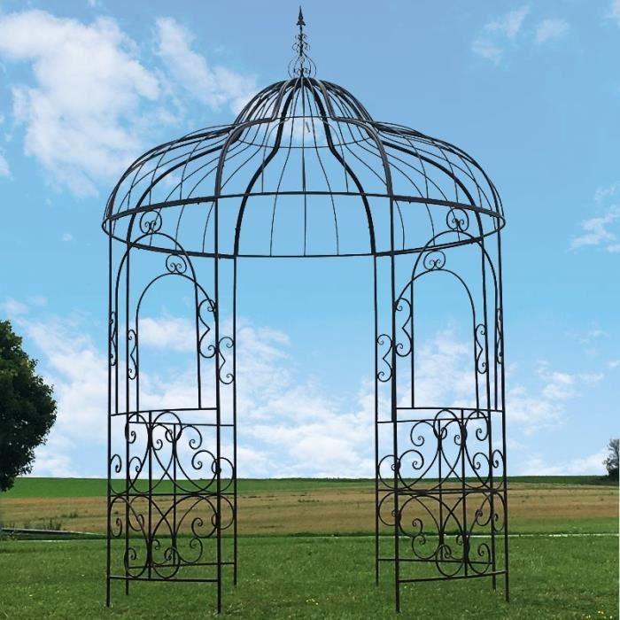 Grande Gloriette Pergola Tonnelle Fer Kiosque Jardin ø215 cm - 10011-Tonnelle-BIS