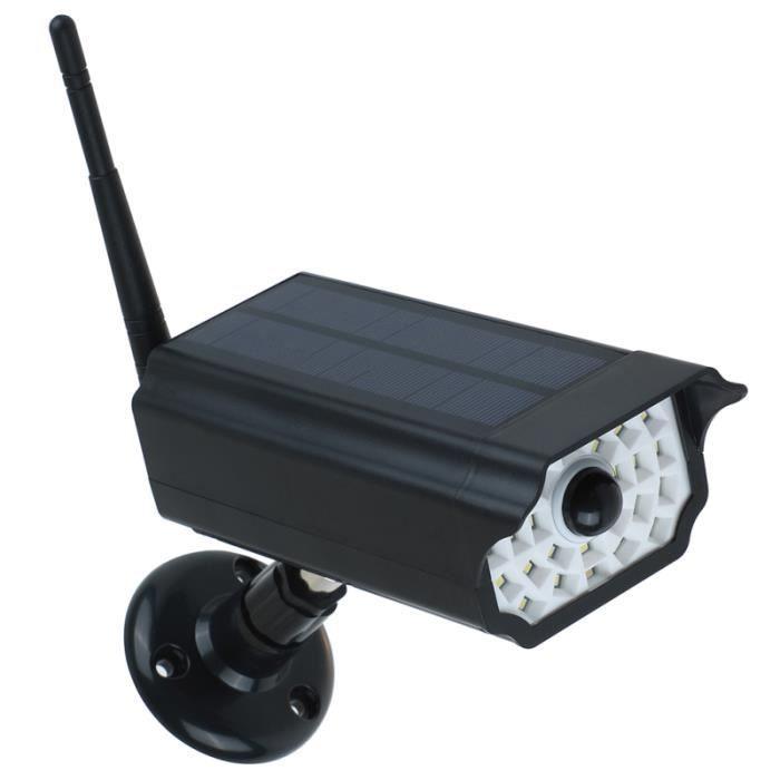 1pcs fausses caméras de simulation à énergie solaire LED pour jardin intérieur SURVEILLANCE CAMERA KIT - VIDEOSURVEILLANCE PACK