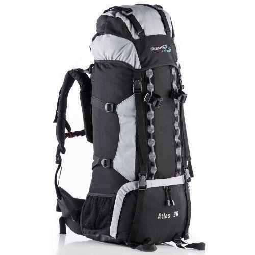 Skandika Atlas 90 Sac à dos trekking randonnée marche Noir/Gris