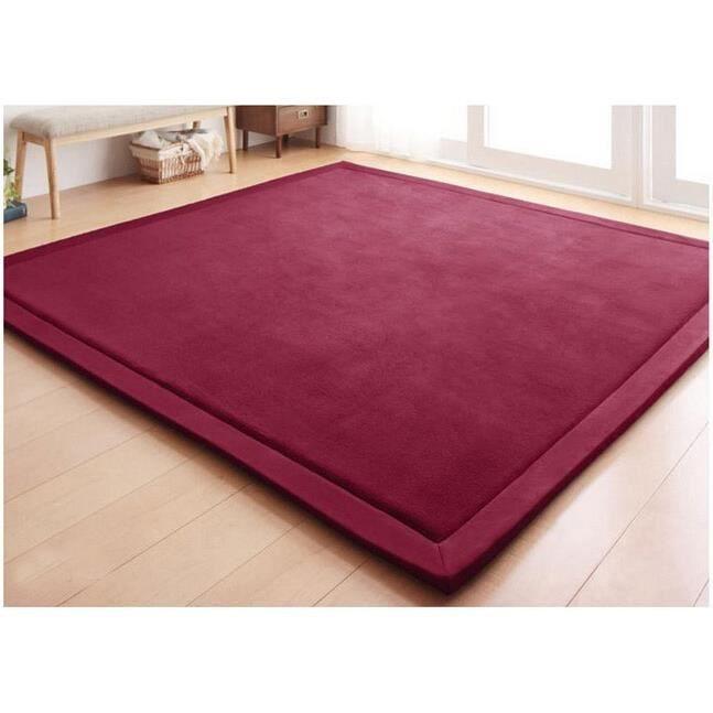 Tapis d'éveil,Nouveau 2CM épais tapis de jeu corail polaire couverture tapis enfants bébé rampant tatami tapis - Type 80cm 200cm #D