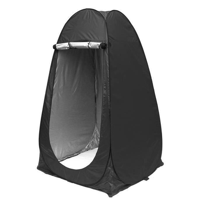Tente de Douche Toilette Cabinet UV Protection Étanche Noir
