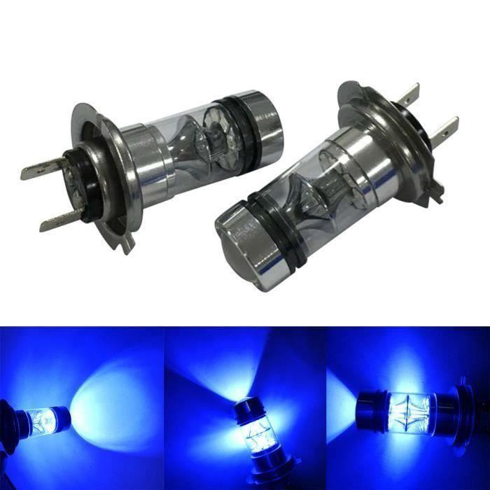 2X H7 100W 20LED HID 2323 Fog Conduite DRL Ampoules DPP61221566BU M23658 Mo34913
