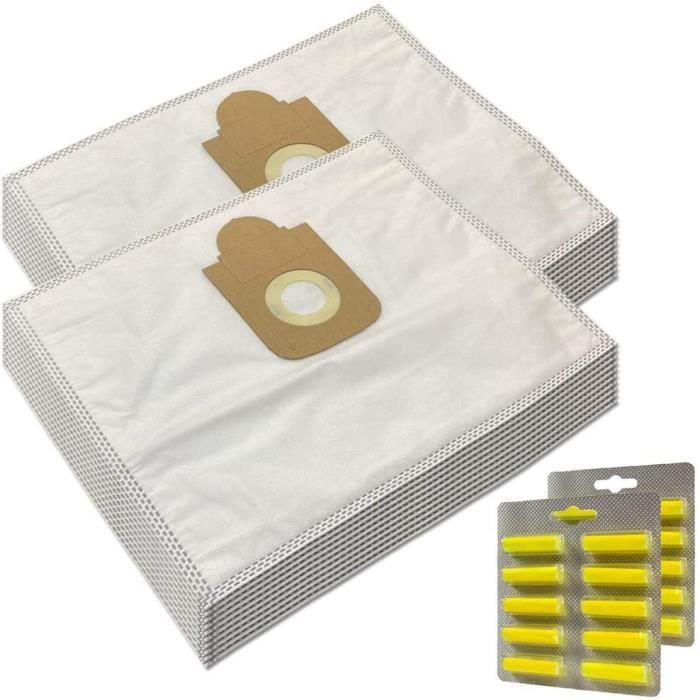 SAC ASPIRATEUR MohMus Set 20 Parfums 20 Sacs Aspirateur pour Rowenta Silence Force Compact RO6300 RO63991520
