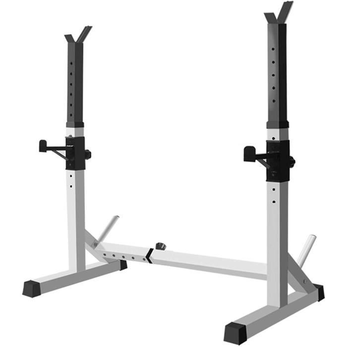 BANC DE MUSCULATION Stands Rack r&eacuteglable Squat, Pull Up Bar Squat Rack, Musculation Fitness Barbell Puissance Poids Suppo688