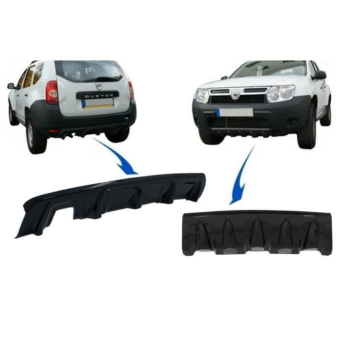 Avant et arrière Protection Skid pour DACIA Duster 4x4 4x2 10-17 Noir brillant