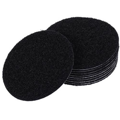Feuillard,5 paires sans couture Double face fixe tapis Velcro rond Rectangle chaise tapis canapé Table - Type Black Round